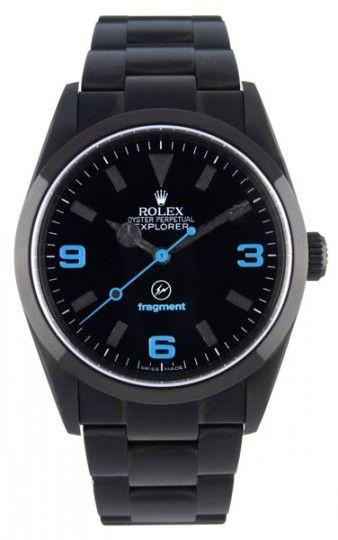Black Rolex Explorer custom by Fragment