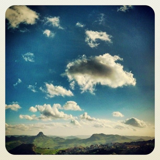 Mussomeli & Sutera - Sicily  - By squeezedmind on Instagram #sicily #landscape #clouds