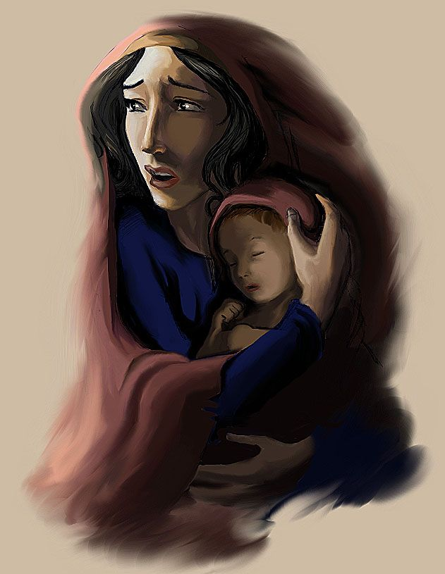 "Deliver us by Mickey89Eli.deviantart.com on @deviantART - Yocheved and baby Moses from Dreamworks' ""The Prince of Egypt"" - The scene from the movie that inspired this picture was one of my favourite parts."
