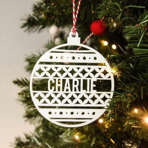 15 best of alp ash images on pinterest ash festive for Personalised christmas decorations