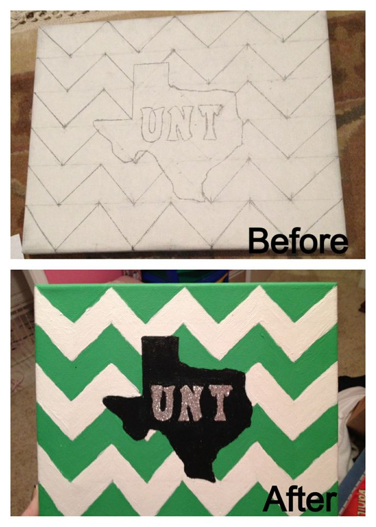 Dorm Decor DIY How To Paint Chevron Print