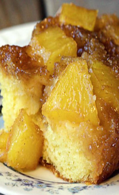 Pineapple Upside Down Caramel Poke Cake