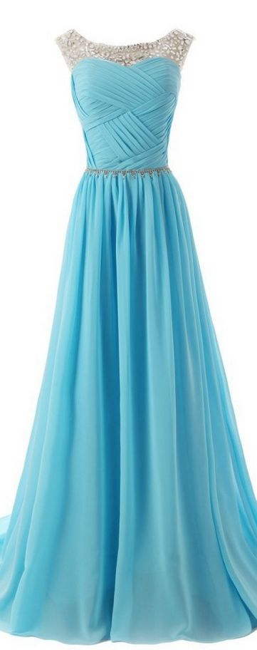 The Chiffon Charming Prom Dresses Floor-Length Evening Dresses Prom Dresses…