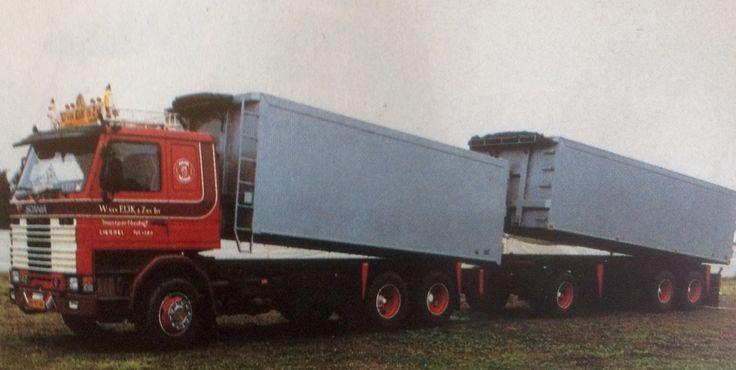 Scania 142H bouwjaar 1985 Nat./Int.transport W.v.Eyk & zn.BV Liessel Holland