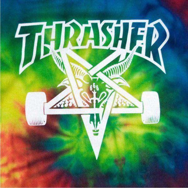 tie dye thrasher skating image logos