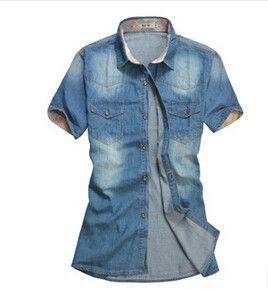 2016 Summer Washing Charm jeans shirts short sleeve