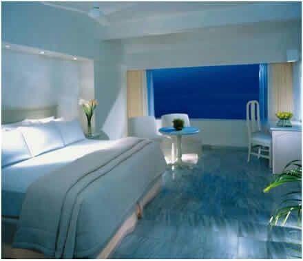 Dormitorio moderno azul