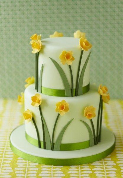 Daffodil-cake (Zoe Clark Cakes)