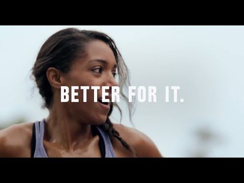 Nike Women - Better For It - Campaign: https://www.youtube.com/watch?v=WF_HqZrrx0c&list=PLZDxPpapYW8LN7t9WrNm4VZIQfeHQe_t5 Nike Women Commercial - Better For...