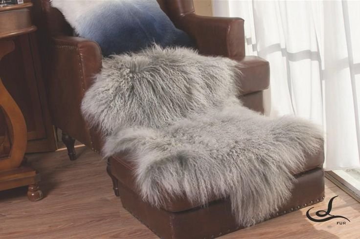 [Visit to Buy] 100% genuine Tibet   free shape cut sheepskin rug ,gray color  sheep skin ground mat , decoration carpet,sheepfur cushion #Advertisement