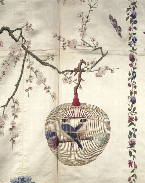 Detail of the Chinese painted silk coverlet in the Victoria and Albert Museum. © V&A Images