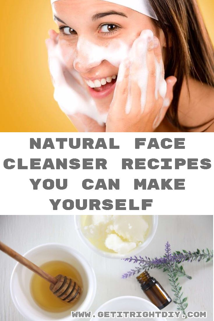 These face cleanser recipes are good choice for sensitive skin, dry skin and normal skin