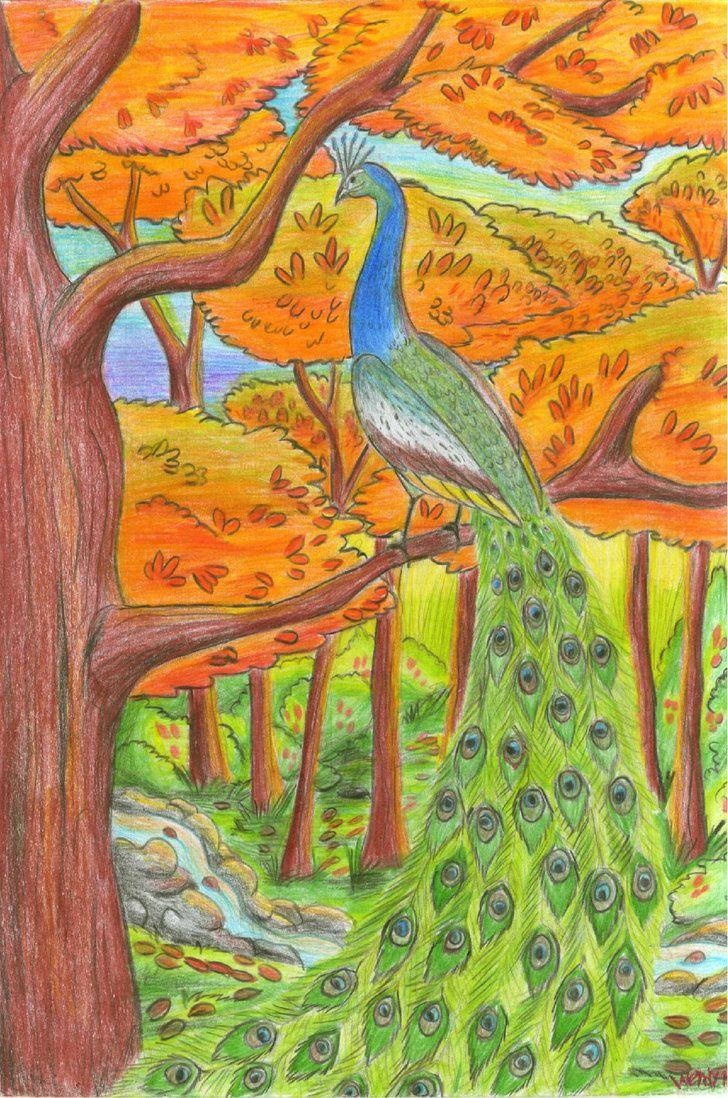 bueno este dibujo originalmente  lo iba a llamar pavo real,  es 100% coloreado