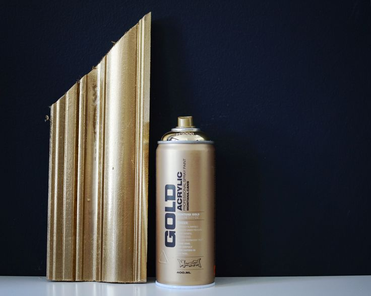 Montana Gold spray paint - if you want the killer look of gold leaf from a can of spray paint, this paint is it!