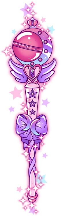Haven't made any Sailor Moon wands in a while and I had a request to make a bi pride magical girl wand (without any yellow) so here's Sailor Moon's 'Cutie Moon Rod' in the pink/purple/blue colourway of the bi pride flag, with the bi pride crescent moon symbols.
