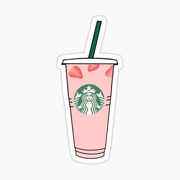 Pink Drink Sticker By Gabbyrani In 2021 Drink Stickers Bubble Stickers Starbucks Wallpaper