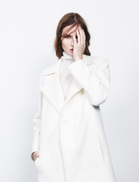 Charlie May AW13 / White wool blend coat