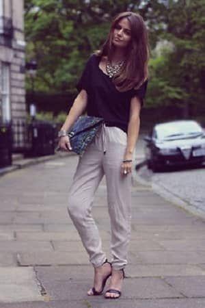 細身のスウェットパンツがかっこいい!夏のレディース スウェット ファッション着こなしの参考一覧です♡