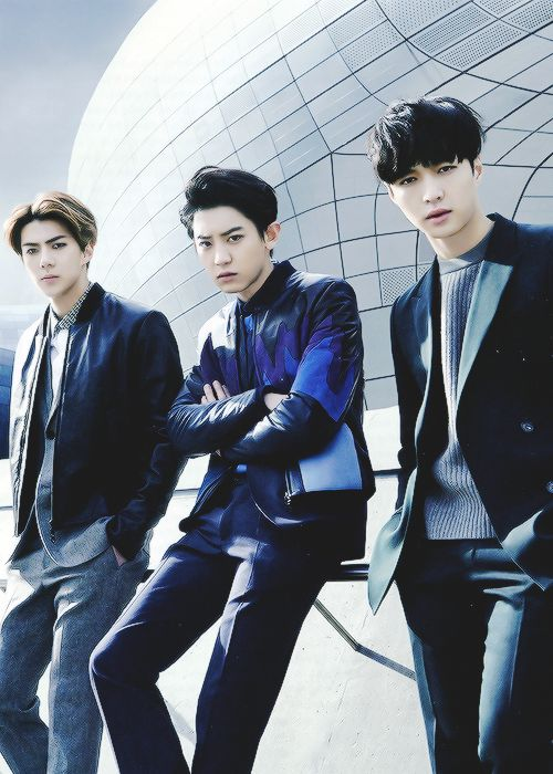 Sehun, Chanyeol, Lay. And here comes the perfection, everyone . This . Is. Perfection