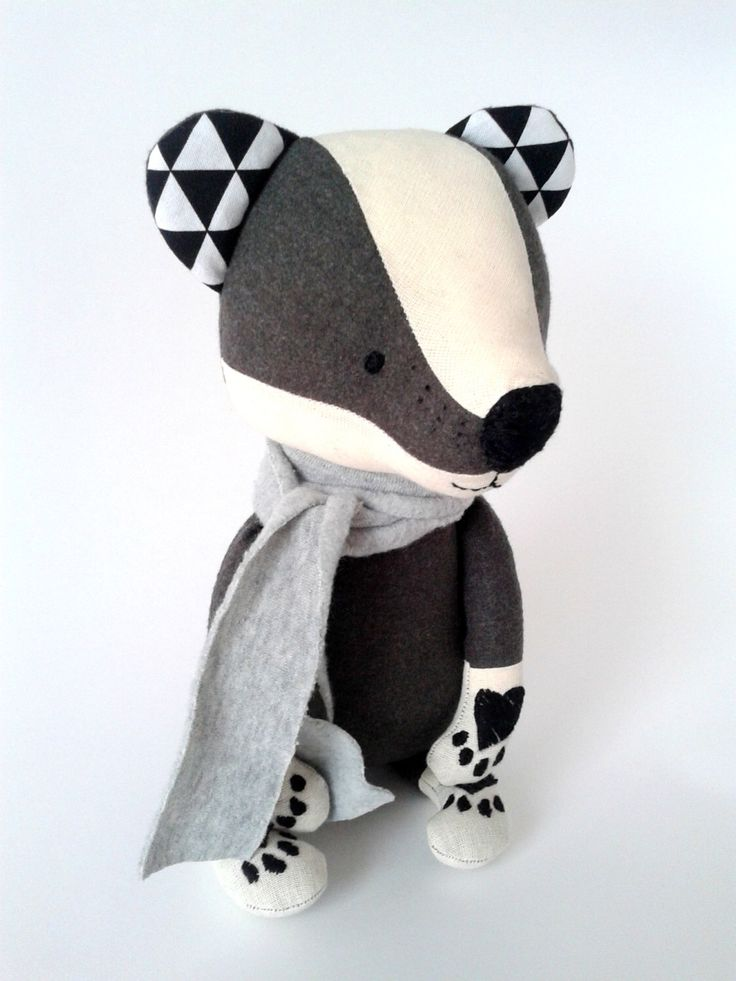 BOUGHT  TOIVO the badger. made-to-order. stuffed toy. gift for children. eco toy. woodland animals.forest animals. stuffed badger by LESNE on Etsy https://www.etsy.com/listing/228789954/toivo-the-badger-made-to-order-stuffed