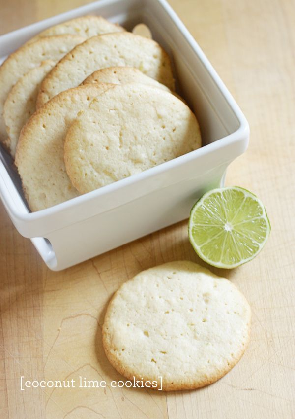 Coconut lime cookies via The Land of Nod