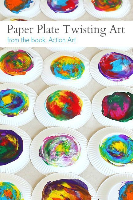 Action Art: Paper Plate Twisting Process Art Activity for Preschoolers! ~ http://BuggyandBuddy.com