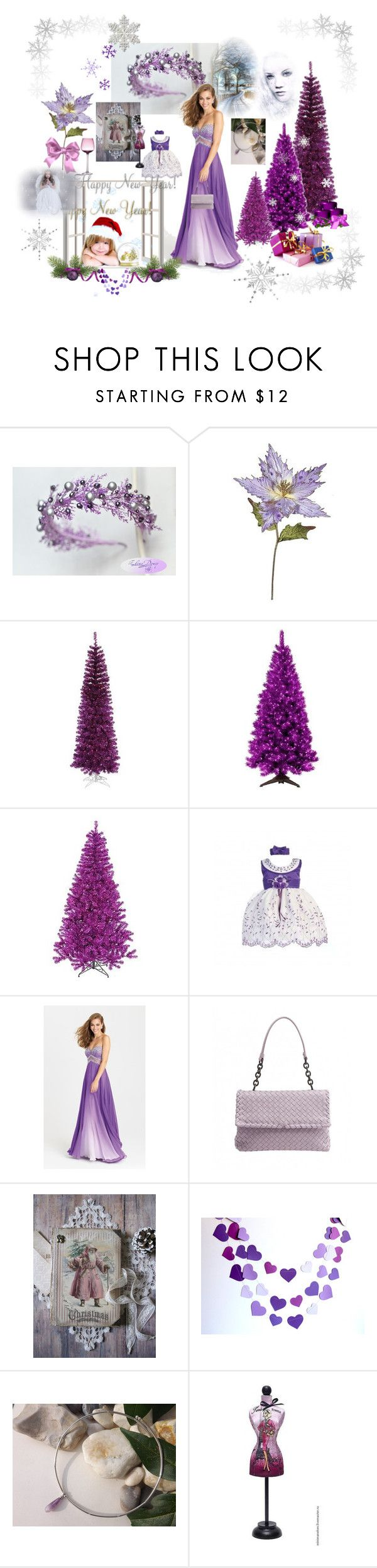"""Happy New Year"" by vualia ❤ liked on Polyvore featuring General Foam, Betty Jackson, Madison James, Bottega Veneta, Christmas, gifts, newyear, purplechristmas and purplecrown"