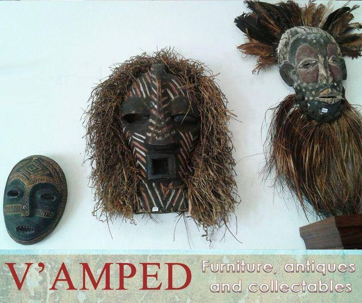 At #VampedFurniture, we have a wide range of vintage collections, such as these selection of vintage tribal masks. Contact Rory on 076 983 4008 for more information. Delivery available nationwide on arrangement.