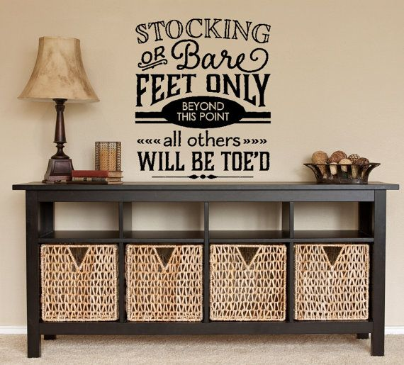 Please Remove Your Shoes Wall Decal  Family by FourPeasinaPodVinyl