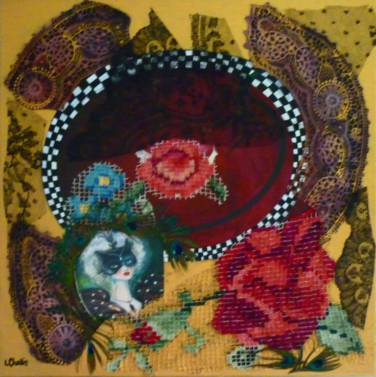 """""""Foxy Moments"""" original collage by Liz Challis SOLD"""