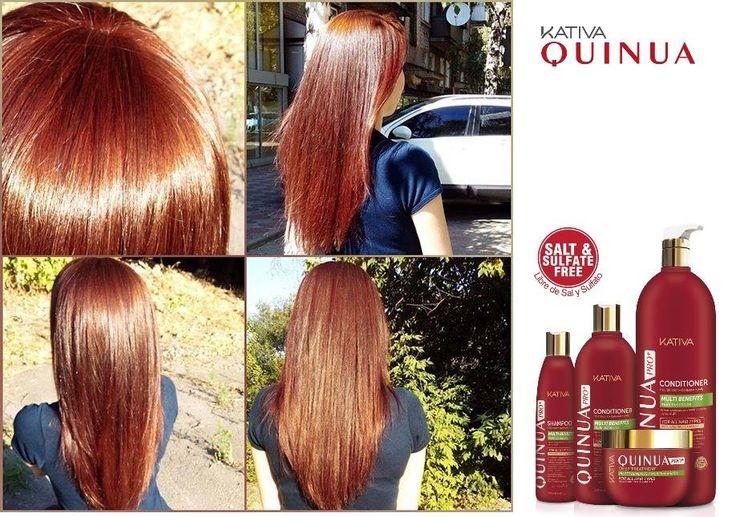 Θεϊκά μαλλιά με τις σειρές περιποίησης Kativa Natural. Kativa Natural Quinua Pro. • Η σειρά KATIVA QUINUA PRO παρέχει τη λύση για τα βαμμένα μαλλιά, παρέχοντας δύναμη, φωτεινότητα και λάμψη στο χρώμα των μαλλιών σας. • Αποτρέπει το ξεθώριασμα των βαμμένων μαλλιών, παρατείνοντας το λαμπερό τους χρώμα • Είναι χωρίς αλάτι και θειικά, αποτρέποντας την ξηρότητα και την κακοποίηση των μαλλιών. Οί δικές σας φωτογραφίες!