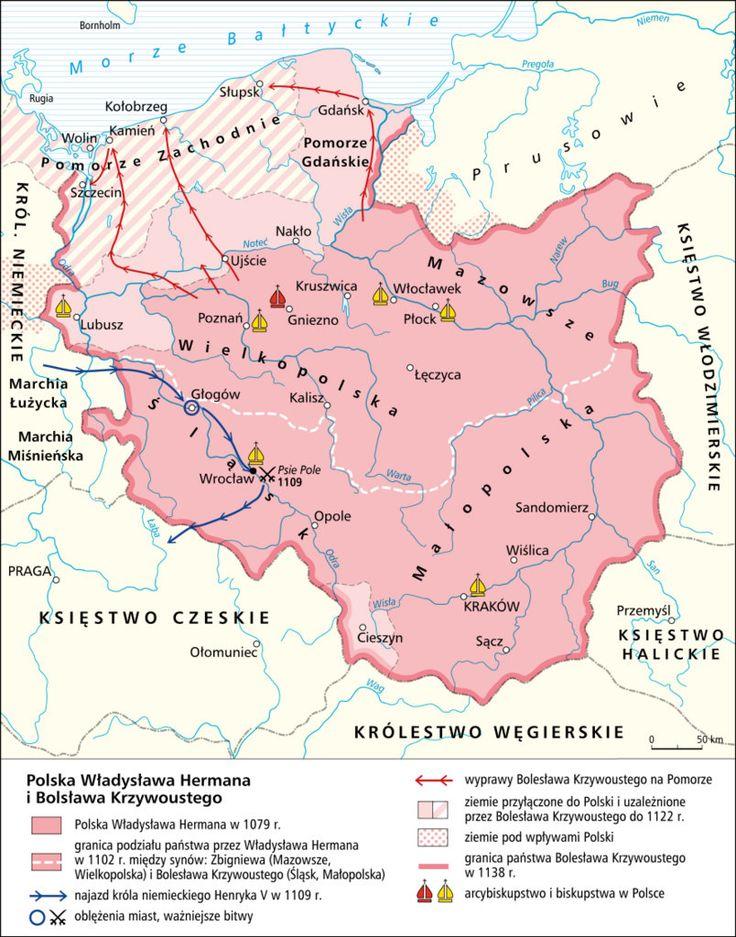 Polska Władysława Hermana i Bolesława  Krzywoustego