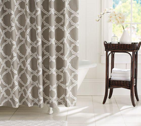 Kendra Trellis Shower Curtain Pottery Barn New Bath