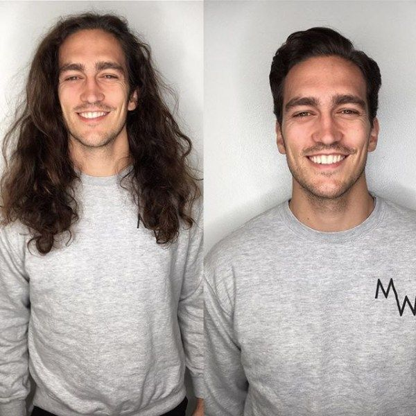 Mind Blowing Hair Transformation Before After Photos Gallery Long To Short Hair Mens Haircuts Short Hair Transformation