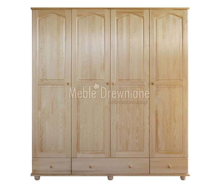 Szafa drewniana sosnowa na ubrania [1] Meble Drewniane - meble sosnowe producent, łóżka, komody, witryny