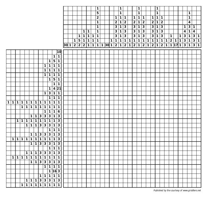 Sweet image regarding printable nonograms