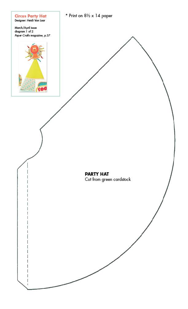 birthday hat pdf - Google Search