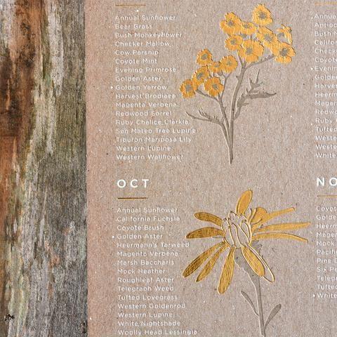seasonal wildflower poster