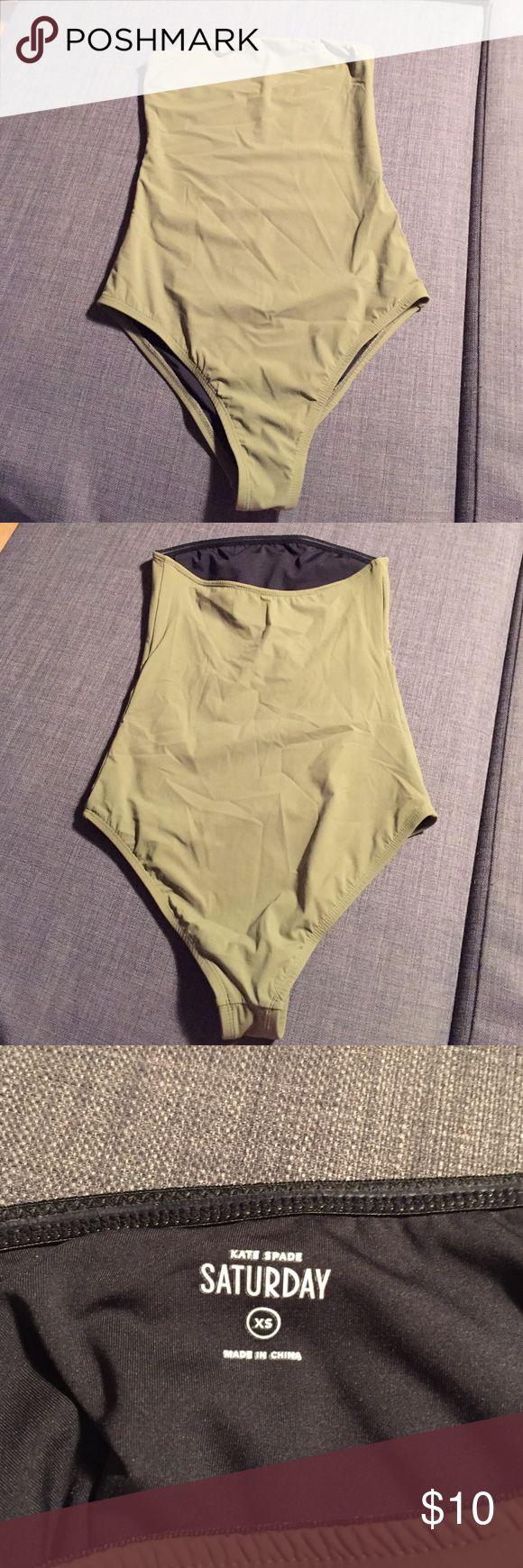 Kate Spade Saturday ..One piece bathing suit Olive green Kate Spade Saturday one piece bathing suite. Never worn ! Slimming bathing suit. Kate Spade Saturday Swim One Pieces