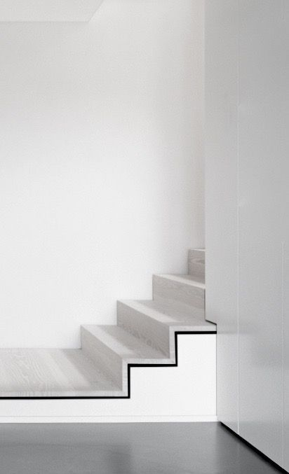 classic black and white outlined concrete stairs #interiors #architecture –…