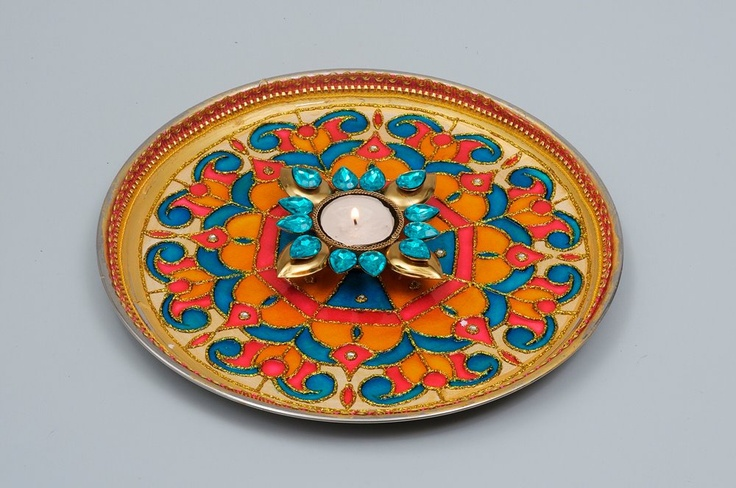 65 best images about aarathi decorative plates on for Aarathi plates decoration