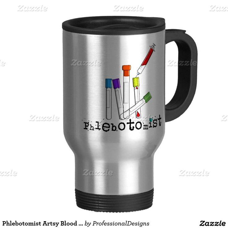 phlebotomist artsy blood tubes design gifts travel