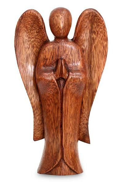 Wood sculpture, 'Angel Song of Peace' by NOVICA