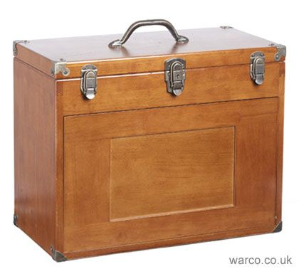 Wooden Tool Chest | Wood Toolmakers' Cabinet for Engineering Tools