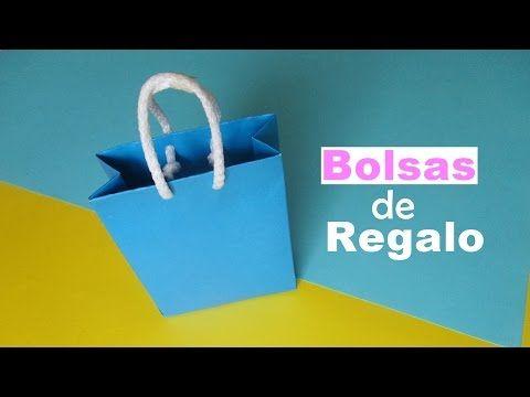 Como hacer bolsas en papel (para sorpresas de cumpleaños o para envolver regalos) - YouTube