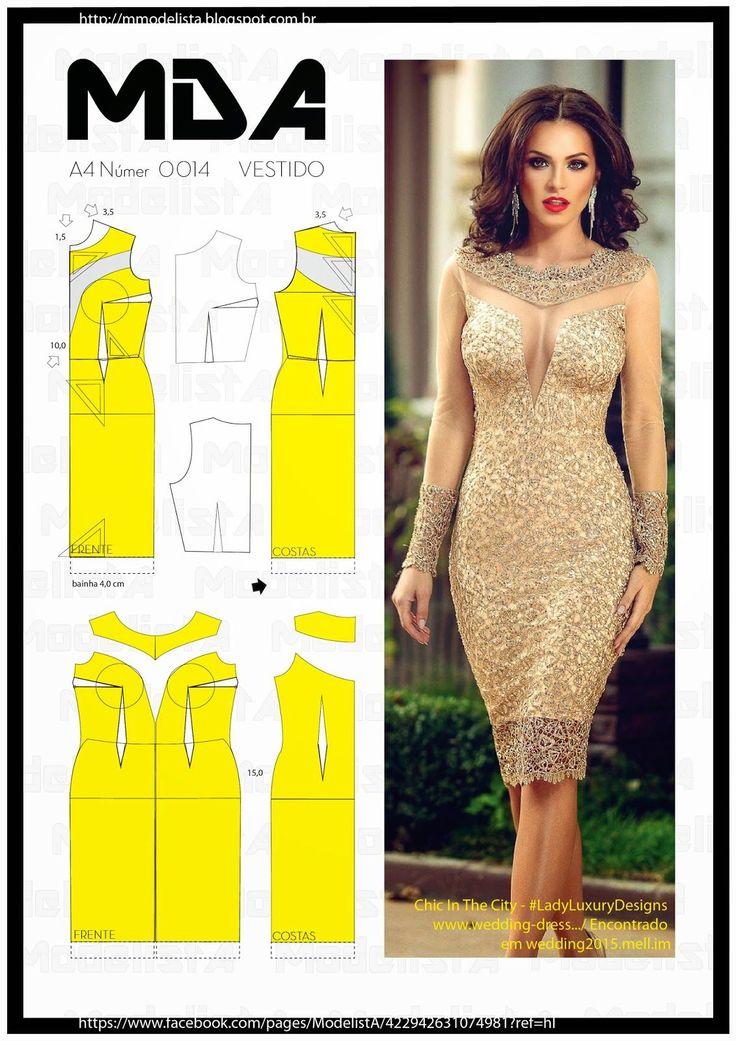 Gold dress, pattern instructions