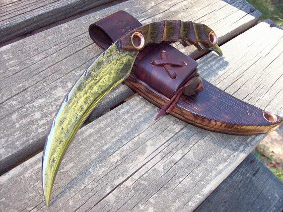 Blacksmith HandForged  NeoTribal  Knife by RPLRAVEN on Etsy, $400.00
