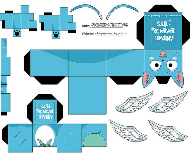 fairy tail papercraft | papercraft - a gallery on Flickr