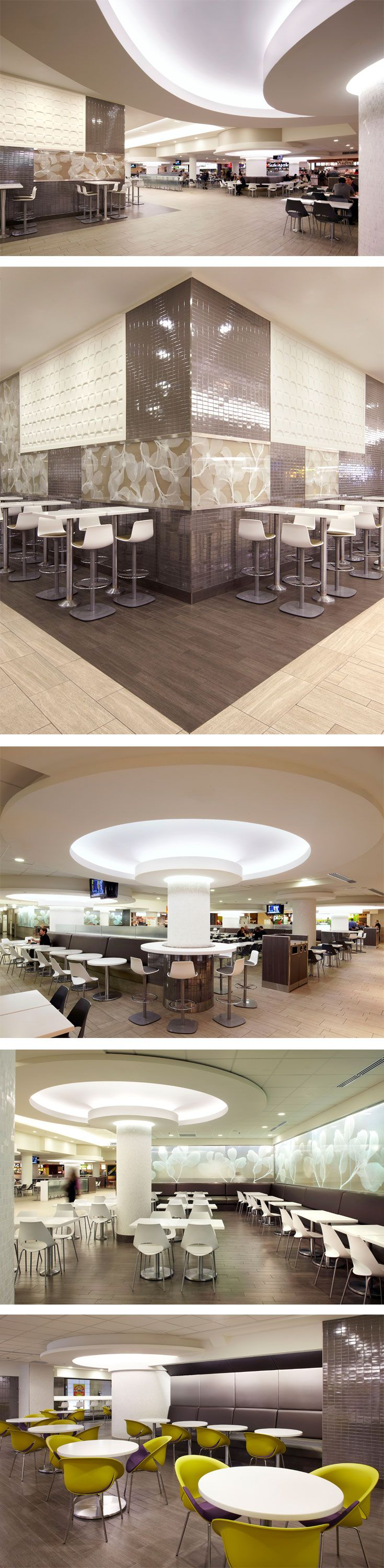 Food Court at Promenades Cathédrale in Montreal, QC - designed by GH+A (in collaboration with Le Groupe Archifin)