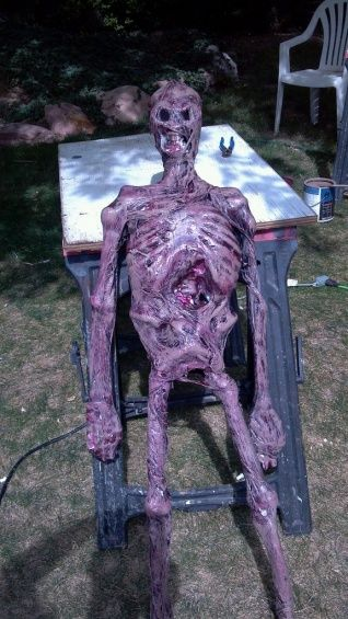 I found in my making of the blucky corpse, the plastic bags and heat gun methoud worked great